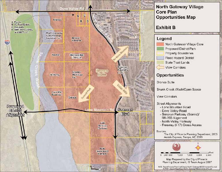 North Gateway Core Plan Map 2008